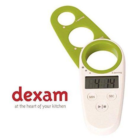 Dexam 12x 5x 1,75cm Duo Minuteur numérique de cuisine et mesure à spaghetti, blanc/vert