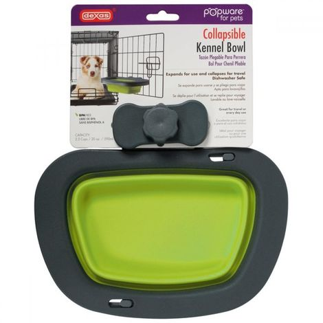Dexas Popware Collapsible Kennel Dog Bowl