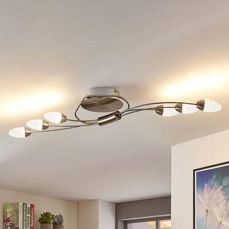 Deyan - lámpara LED de techo atenuable, 6 brazos
