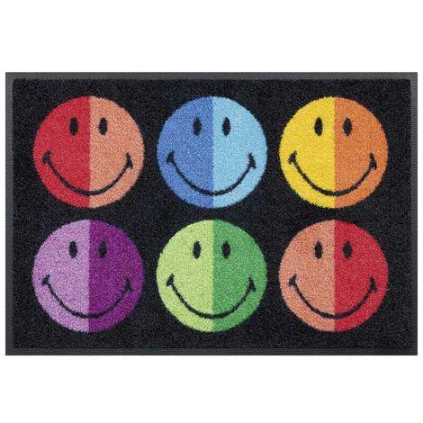 Dezenco SMILEYLOURS KT 50x75 cm Tapis enfant Paillasson Entrée Paillasson Rectangulaire Paillasson Multicolore