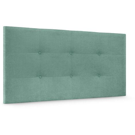 DHOME Cabecero, Cabezales de Cama Capitoné para colgar. Cabezal tapizado ACUALINE (Tela Azul, 95x60cm (Camas 70/80/90)) - Azul