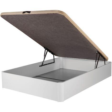 DHOME Canape Abatible Tapizado 3D 4 válvulas Maxima Calidad Esquinas canapé Madera (90x180 Ceniza, 30mm) - Ceniza