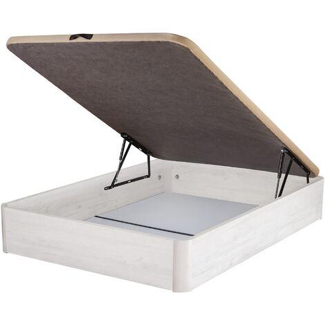 DHOME Canape Abatible Tapizado 3D 4 válvulas Maxima Calidad Esquinas canapé Madera (90x200 Cambrian, 30mm) - Cambrian