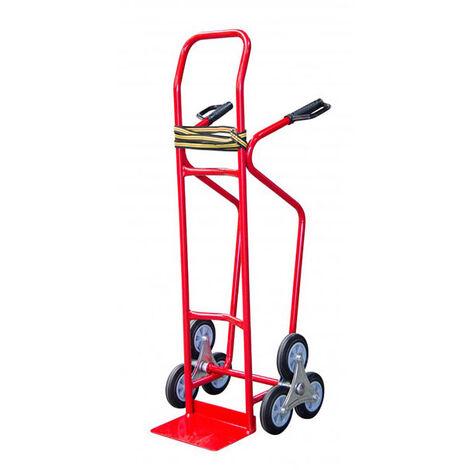 Diable 3 roues charges hautes et volumineuse