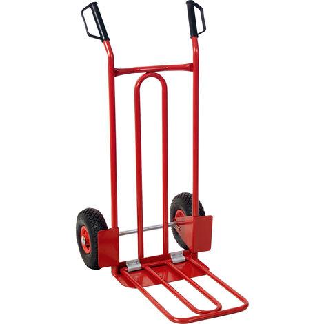 Diable avec bavette roues gonflables - 250 kg