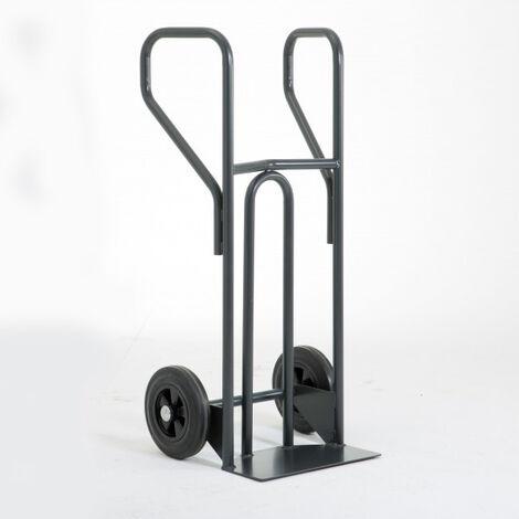 Diable charge lourde à dossier incurvé – charge max 400kg (plusieurs tailles disponibles)