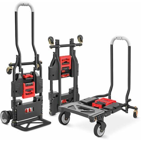 Diable Chariot travaux a main pliable, 4 roues 120 kg multiposition – GREENCUT