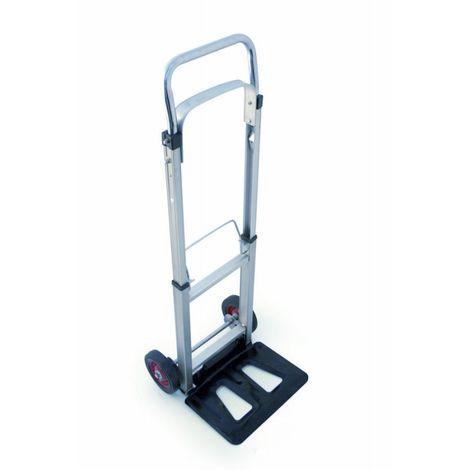 Diable de manutention pliable - inox - capacité 90 kg