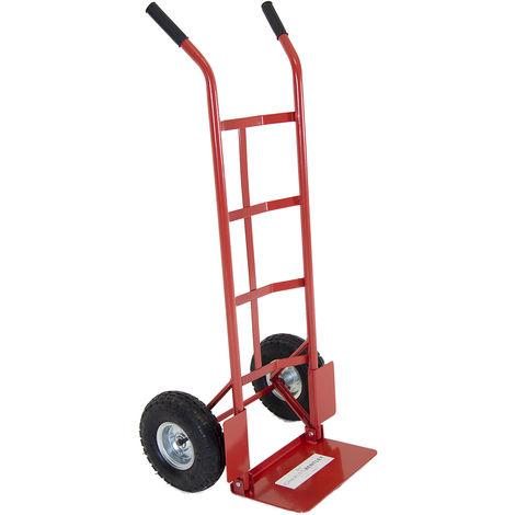 charge 200 kg Diable de transport avec bavette pliable roues pneumatiques