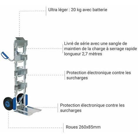 Diable électrique monte escalier - Porte-bonbonnes d'eau (plusieurs tailles disponibles)