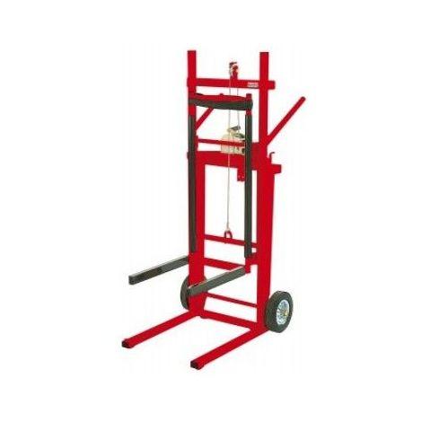 Diable élévateur manuel - 100 à 150 kg - Avec plateau : oui