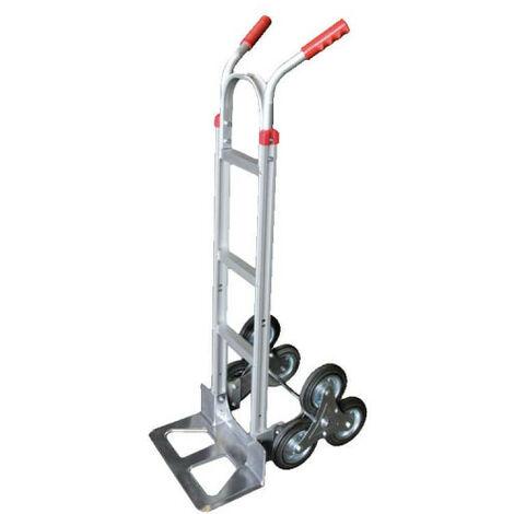 Diable en aluminium avec 3 roues 150 KG - 46x56,5x1290cm