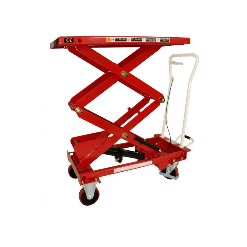 B. Table élévatrice mobile haute levée - Capacité 800kg / Hauteur 1410mm