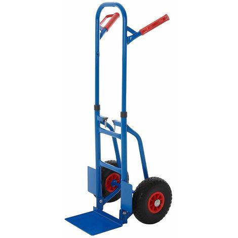 Diable pliable – Charge max: 250 kg – H x L x P 835 x 435 x 495 mm - Coloris: Bleu