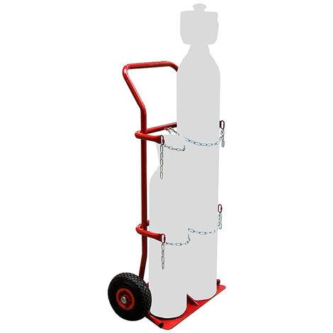 Diable porte-bouteilles pour atelier - 2 bouteilles - charge max 200kg (plusieurs tailles disponibles)