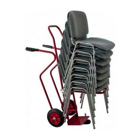 Diable pour chaise - 250 kg - Roues pneumatiques
