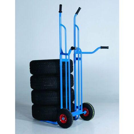 Diable pour pneus charge 200kg hauteur 1.60m spécial garage et atelier