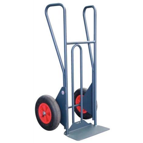 Diable tout terrain bavette fixe, roues pneumatiques, charge utile 350 kg