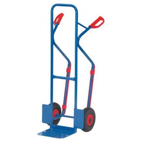 Diables avec tubes d'acier, Capacité : 300 kg, Dimensions 1300 x 580 mm, Pelle 320 x 250 mm, Poids : 15 kg