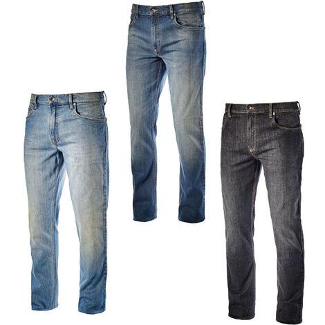 833b195c6e5e Diadora Utility STONE 5 PKT Pantaloni Jeans da lavoro elasticizzati Nero 46