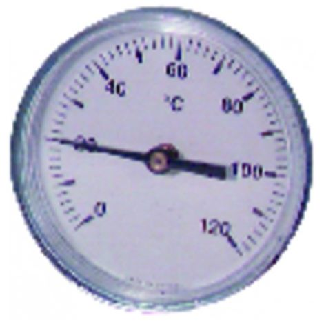 Dial axial plunger 0 120°c ø100mm chrome plated