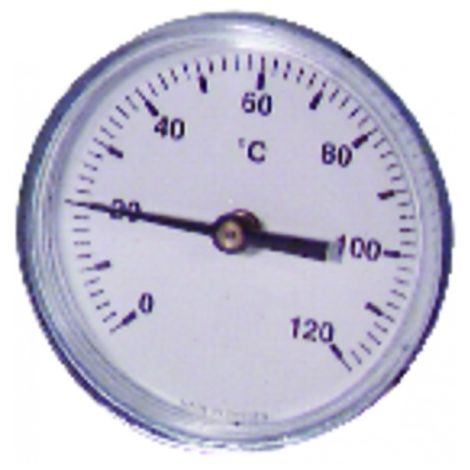 Dial thermometer axial plunger 0 - 120°c ø63mm