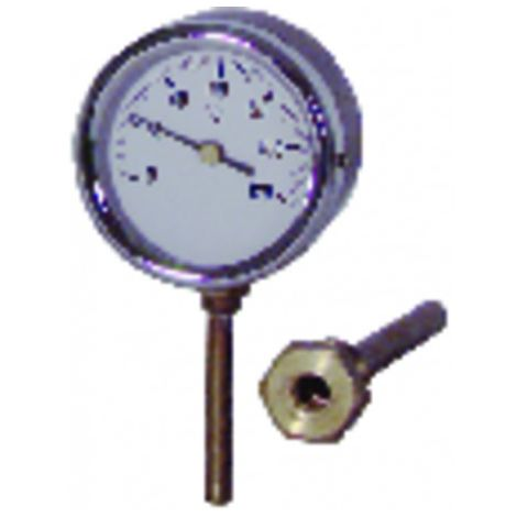 Dial thermometer plunger 0 120°c ø80mm 40