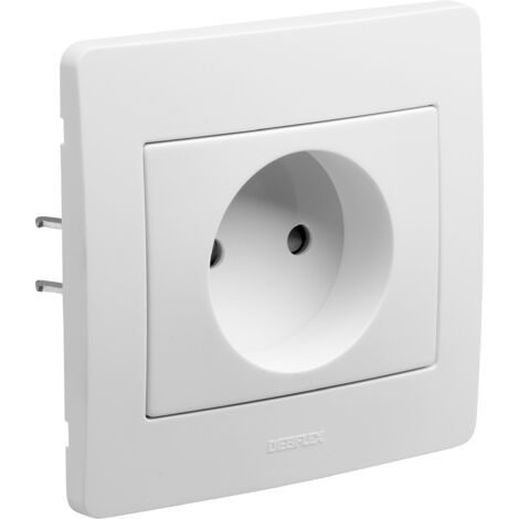 Diam 2 - prise 2p blanc - Debflex