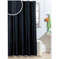 Diamante Polyester Shower Curtain 1800mm x 1800mm - Black