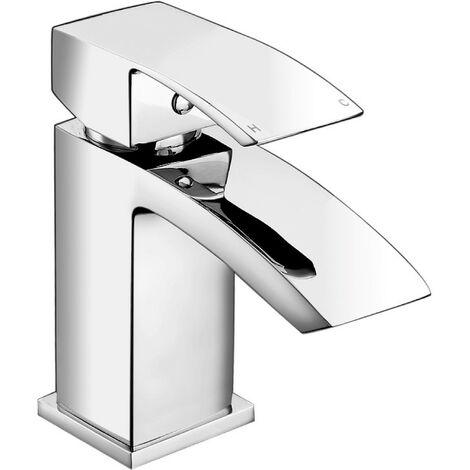 Diamanti Chrome Mini Basin Mono Mixer & Slotted Sprung Basin Waste