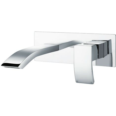 Diamanti Chrome Wall Mounted Basin Mono Mixer
