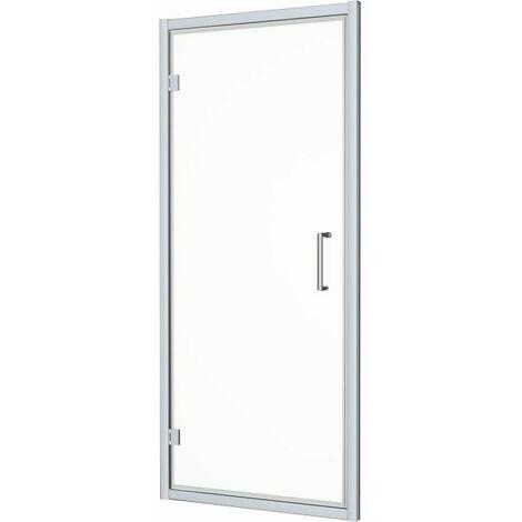 Diamond 1000x700mm Hinged Shower Door & Side Panel 8mm Glass