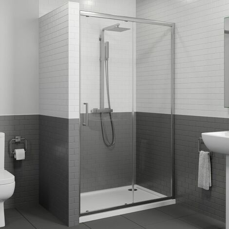 Diamond 1200mm Framed Sliding Shower Door - 8mm Glass