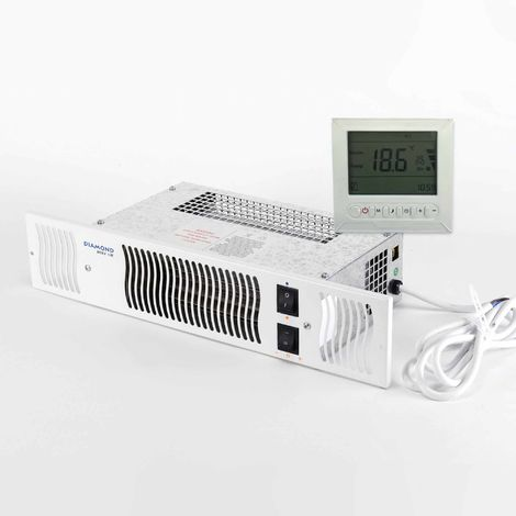 Diamond 1.9E Under Cupboard Kitchen Plinth Heater + Timer and Room Thermostat