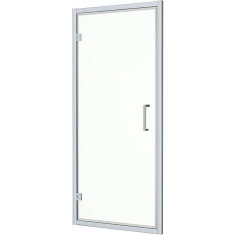 Diamond 760mm x 760mm Hinged Shower Door & Side Panel - 8mm Glass
