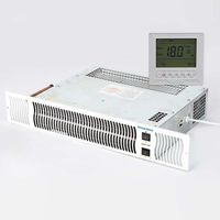 Diamond 900 Under Cupboard Central Heating Kitchen Plinth Heater + Timer and Room Thermostat