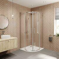 Diamond 900mm Frameless Quadrant Shower Enclosure - 8mm Glass