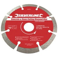 DIAMOND BLADES CONCRETE & STONE CUTTING BLADE 125 x 22.2mm (633624)
