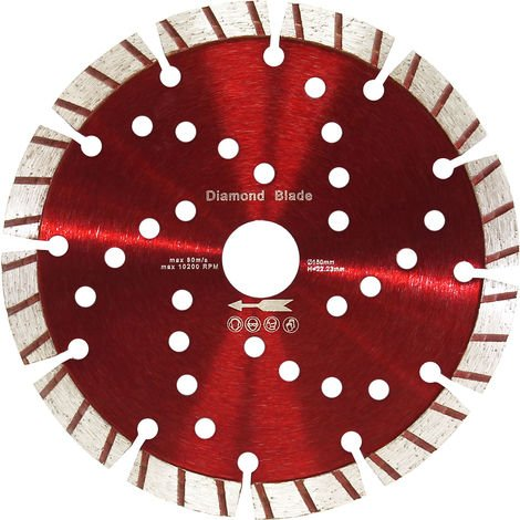 Diamond Cutting Disc ⌀150mm with 22.23mm Bore and 10mm Turbo Segments