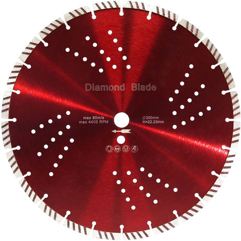 Diamond Cutting Disc ⌀350mm with 22.23mm Bore and 10mm Turbo Segments