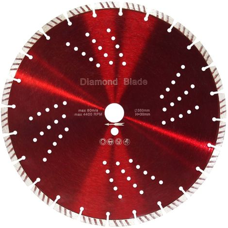Diamond Cutting Disc ⌀350mm with 30mm Bore and 10mm Turbo Segments