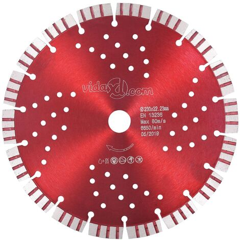 Diamond Cutting Disc with Turbo and Holes Steel 230 mm