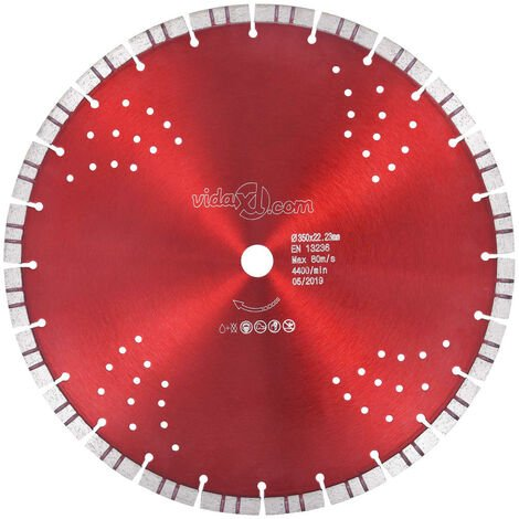Diamond Cutting Disc with Turbo and Holes Steel 350 mm