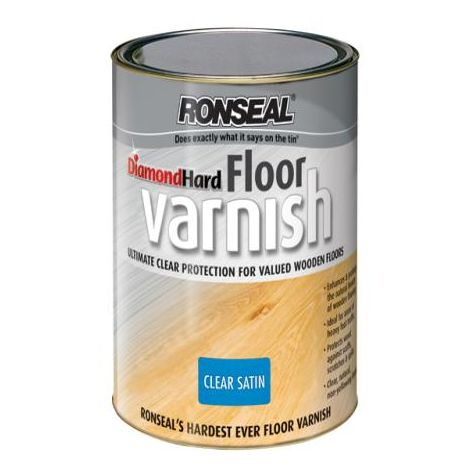 Ronseal Diamond Hard Floor Varnish Satin 2 5 Dhfvs25l
