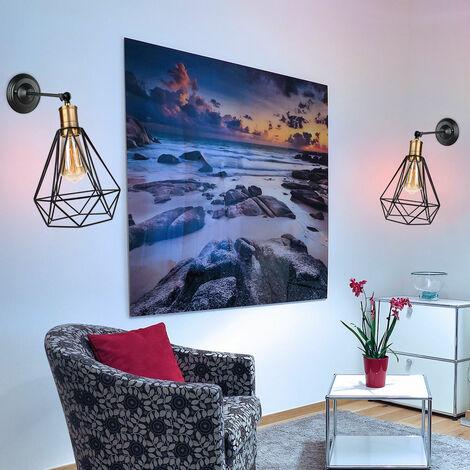 Diamond Shape Wall Light Black Antique Industrial Ceiling Light Metal Iron Wall Light for Bedroom Bar Cafe