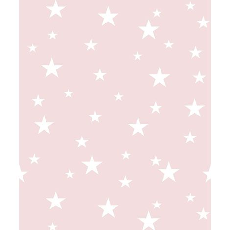 Diamond Stars Blush Pink Glitter Wallpaper Girls Bedroom Nursery Vinyl Arthouse