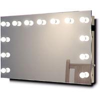 Miroir Maquillage Diamond X Mural Hollywood Audio avec LED Blanc Chaud k518WWaud