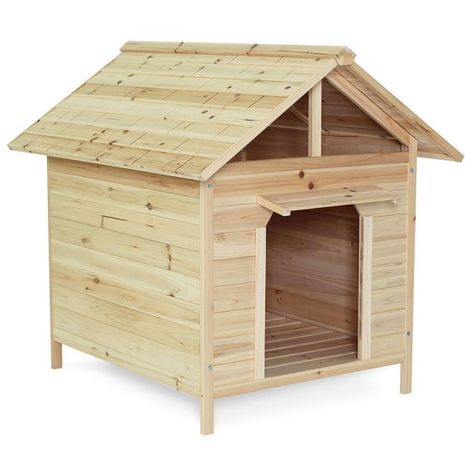dibea Hundehütte, Hundehaus mit Vordach, (Außenmaße 103 x 84 x 95 cm)