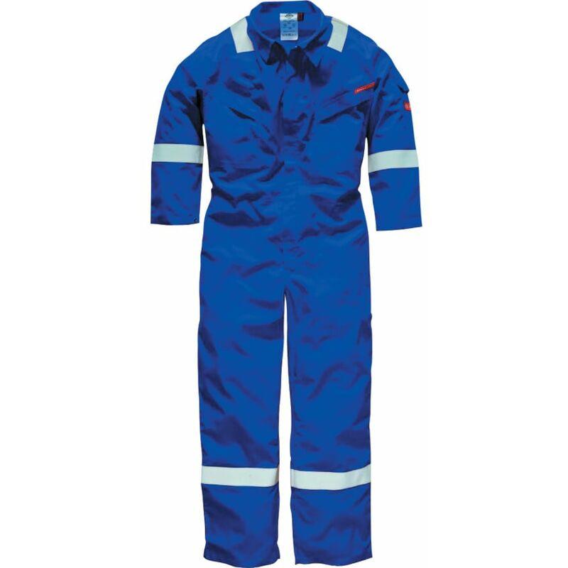 Image of Dickies FR5401 Pyrovatex Men's Lightweight Coverall 220GSM R/Blue 46 Regular Leg