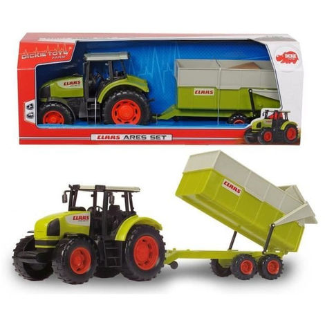 DICKIE - Tracteur avec remorque CLAAS 57cm